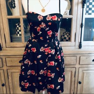 Jill Stuart Sleeveless Floral Fit & Flair Dress